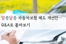 알쏭달쏭 자동차보험 제도 개선안…Q&A로 톺아보기